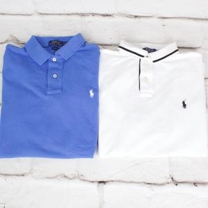 Lot of 2 Ralph Lauren POLO Polo Shirts Size L